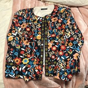 Floral colorful jacket
